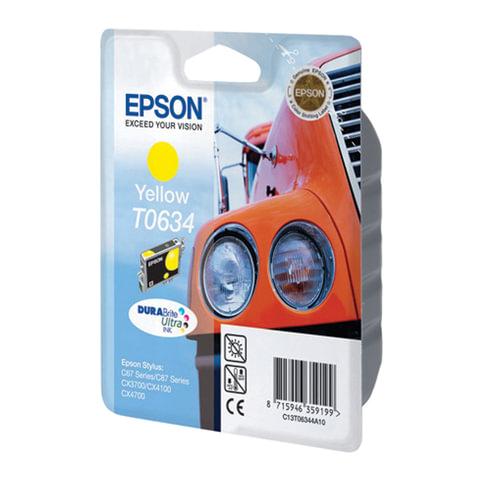 Картридж струйный EPSON (C13T06344A10) Stylus C67/87/CX3700/4100/4700, желтый, оригинальный