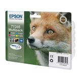 Картридж струйный EPSON (C13T12854010) Stylus S22/<wbr/>SX125/<wbr/>SX420W/<wbr/>SX425/<wbr/>BX305FW, комплект, ориг., 4 цв.