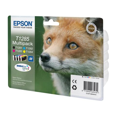 Картридж струйный EPSON (C13T12854010/12) Stylus S22/SX125/SX420W/ SX425/BX305FW, комплект, оригинальный, 4 цвета
