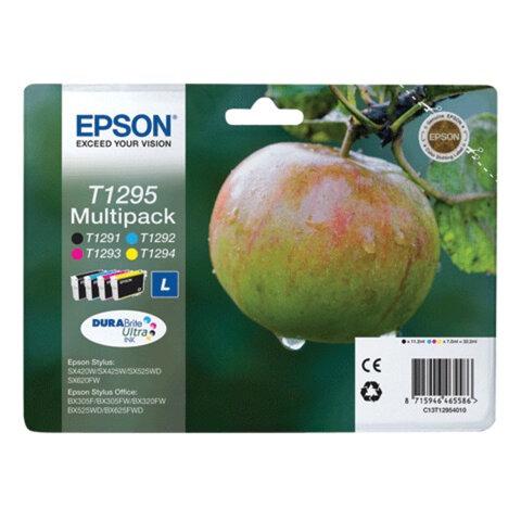 Картридж струйный EPSON (C13T12954010) Stylus SX230/<wbr/>SX430/<wbr/>WF7015 /7515/<wbr/>7525, комплект, ориг., 4 цв.