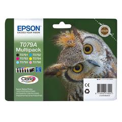 Картридж струйный EPSON (C13T079A4A10) Stylus P50/<wbr/>PX650/<wbr/>PX660, комплект, ориг., 6 цв., увелич. емк.