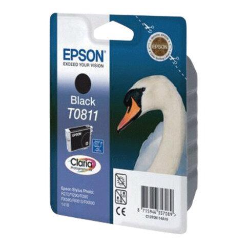 Картридж струйный EPSON (C13T11114A10) Stylus TX650/T50/R270/R390/RX590, черный, оригинальный