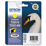 Картридж струйный EPSON (C13T11144A10) Stylus TX650/<wbr/>T50/<wbr/>R270/<wbr/>R390/<wbr/>RX590, желтый, оригинальный