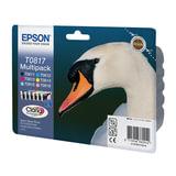 Картридж струйный EPSON (C13T11174A10) Stylus TX650/<wbr/>T50/<wbr/>R270/<wbr/>R390/<wbr/>RX590, комплект, оригин., 6 цв.