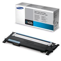 Картридж лазерный SAMSUNG (CLT-C406S) CLP-365/<wbr/>365W, CLX-3300/<wbr/>3305W и другие, оригинальный, голубой