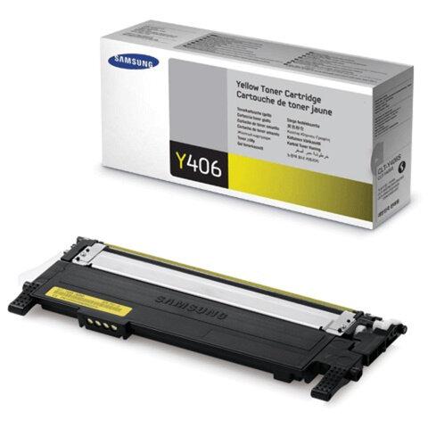 Картридж лазерный SAMSUNG (CLT-Y406S) CLP-365/365W, CLX-3300/3305W и другие, оригинальный, желтый