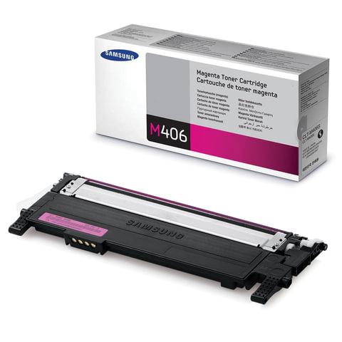 Картридж лазерный SAMSUNG (CLT-M406S) CLP-365/365W, CLX-3300/3305W и другие, оригинальный, пурпурный