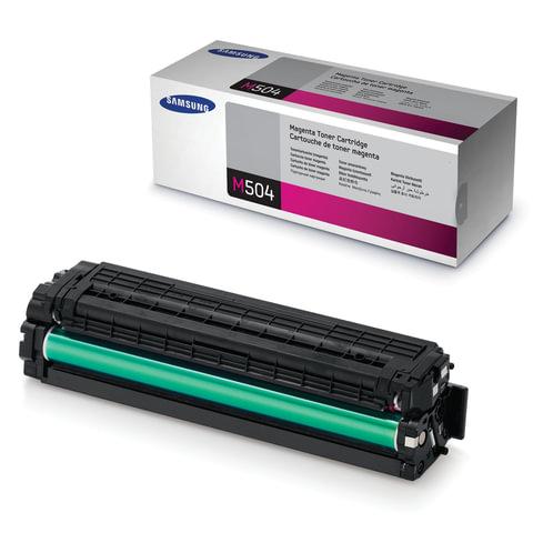 Картридж лазерный SAMSUNG (CLT-M504S) CLX-4195FN/4195FW и CLP-415N и другие, оригинальный, пурпурный