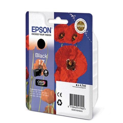 Картридж струйный EPSON (C13T17014A10) Expression Home XP-103/<wbr/>207/<wbr/>203, черный, оригинальный
