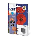 Картридж струйный EPSON (C13T17024A10) Expression Home XP-103/<wbr/>207/<wbr/>203, голубой, оригинальный