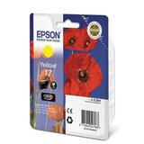Картридж струйный EPSON (C13T17044A10) Expression Home XP-103/<wbr/>207/<wbr/>203, желтый, оригинальный