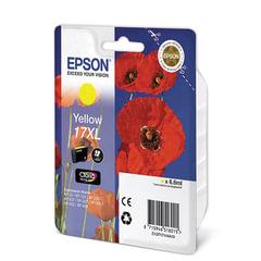 Картридж струйный EPSON (C13T17144A10) Expression Home XP-103/<wbr/>207/<wbr/>203, желтый, ориг., увел. емкости