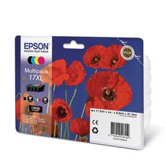 Картридж струйный EPSON (C13T17164A10) Expression Home XP-103/<wbr/>207/<wbr/>203, комплект, оригинал., 4 цвета