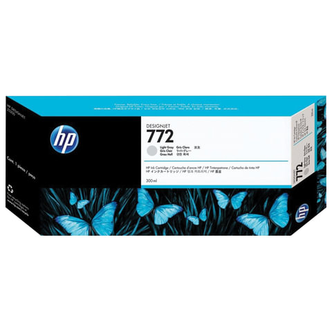 Картридж струйный HP (CN634A) DesignJet Z5200, №772, светло-серый, оригинальный, ресурс 300 стр.