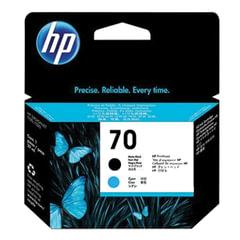 Головка печатающая для плоттера HP (C9404A) DesignJet Z2100/<wbr/>Z3100, №70, матовая черная и голубая, оригинальная