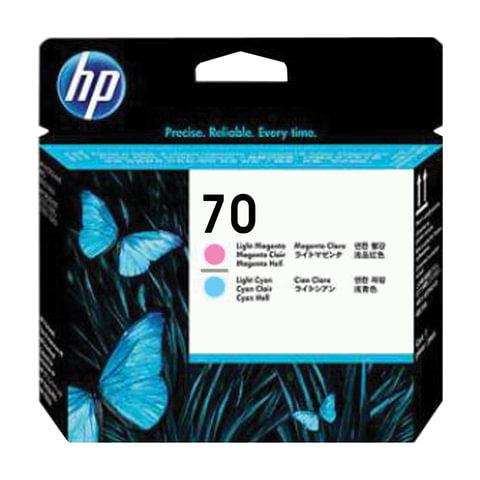 Головка печатающая для плоттера HP (C9405A) DesignJet Z2100/<wbr/>Z3100, №70, св-пурпур. и св-голуб.,ориг.