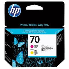Головка печатающая для плоттера HP (C9406A) DesignJet Z2100/<wbr/>Z3100, №70, пурпурная и желтая, оригинальная