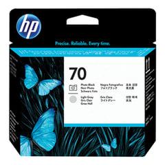 Головка печатающая для плоттера HP (C9407A) DesignJet Z2100/<wbr/>Z3100, №70, черная и светло-серая, оригинальная
