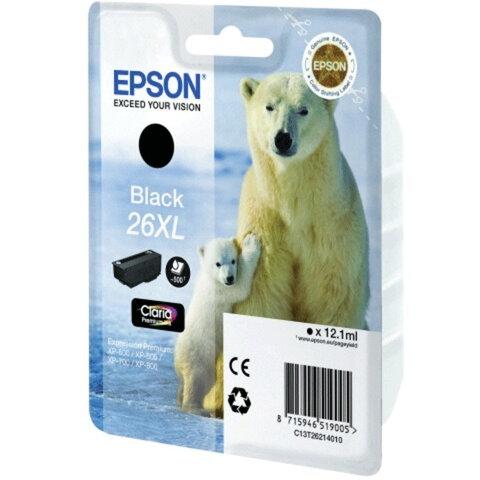Картридж струйный EPSON (C13T26214010) Expression Premium XP-600/<wbr/>605/<wbr/>700/<wbr/>800, черный, оригинальный