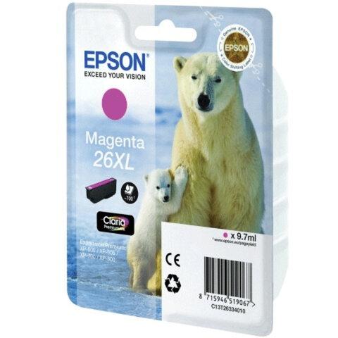 Картридж струйный EPSON (C13T26334010) Expression Premium XP-600/605/700/800, пурпурный, ориг.