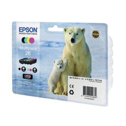 Картридж струйный EPSON (C13T26164010) Expression Premium XP-600/800, комплект, ориг., 4 цвета