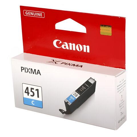 Картридж струйный CANON (CLI-451C) Pixma iP7240 и другие, голубой, оригинальный