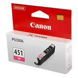 Картридж струйный CANON (CLI-451M) Pixma iP7240 и другие, пурпурный, оригинальный