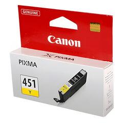 Картридж струйный CANON (CLI-451Y) Pixma iP7240 и другие, желтый, оригинальный