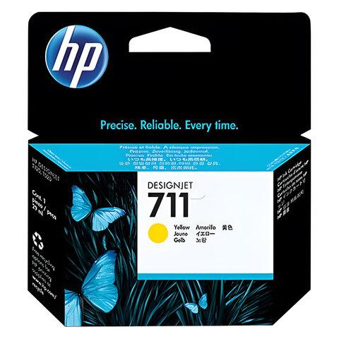 Картридж струйный для плоттера HP (CZ132A) DesignJet T120/<wbr/>T520, №711, желтый, оригинальный