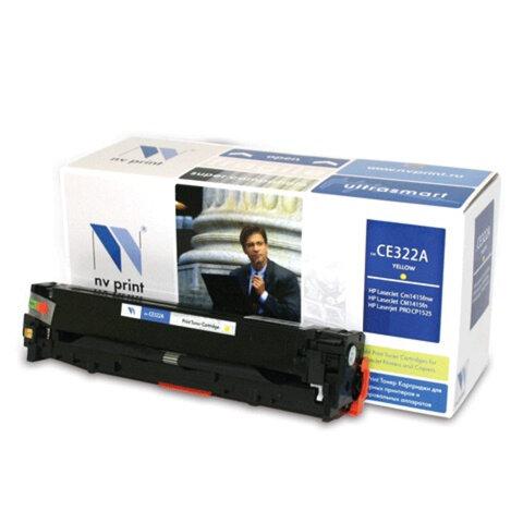 Картридж лазерный HP (CE322A) LaserJet CM1415FN/<wbr/>CP1525N, желтый, ресурс 1300 страниц, NV PRINT, СОВМЕСТИМЫЙ