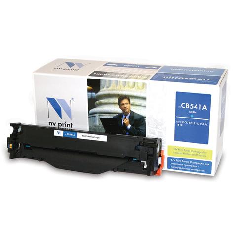 Картридж лазерный HP (CB541A) LaserJet CP1215/1515/CM1312, голубой, ресурс 1400 страниц, NV PRINT, СОВМЕСТИМЫЙ