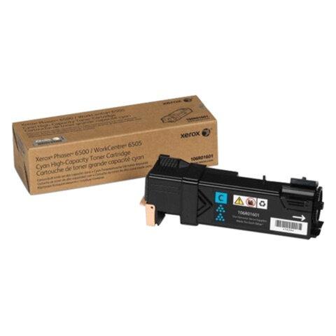 Картридж лазерный XEROX (106R01601) Phaser 6500/WC6505, голубой, оригинальный, ресурс 2500 страниц