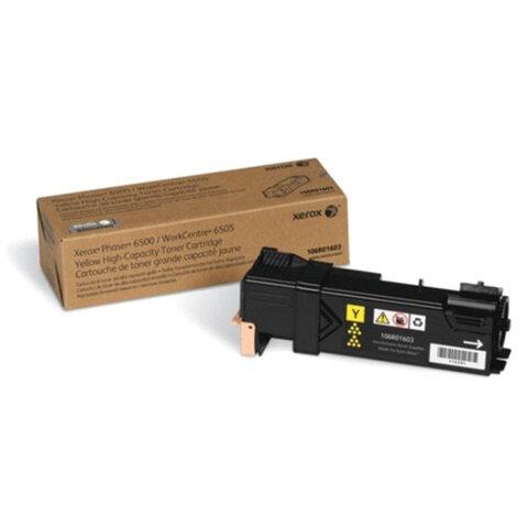 Картридж лазерный XEROX (106R01603) Phaser 6500/<wbr/>WC6505, желтый, оригинальный, ресурс 2500 страниц