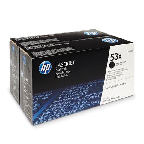 Картридж лазерный HP (Q7553XD) LaserJet 2015/2015n/2014 и другие, комплект 2 шт., ресурс 2х7000 страниц
