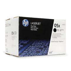 Картридж лазерный HP (CE505XD) HP LaserJet P2055, №05X, оригинальный, комплект 2 шт., ресурс 2 х 6500 страниц