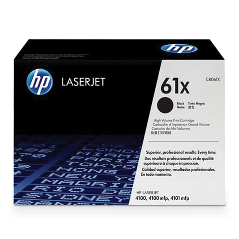 Картридж лазерный HP (C8061X) LaserJet 4100/4100N/4100DTN/4100mfp, черный, оригинальный, ресурс 10000 страниц