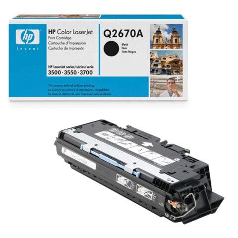 Картридж лазерный HP (Q2670A) ColorLaserJet 3500/3550/3700, черный, оригинальный, ресурс 6000 стр.
