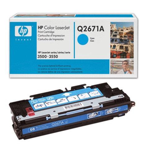 Картридж лазерный HP (Q2671A) ColorLaserJet 3500/<wbr/>3550/<wbr/>3700, голубой, оригинальный, ресурс 4000 стр.