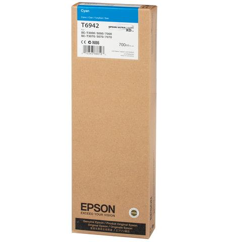 Картридж струйный для плоттера EPSON (C13T694200) Epson SC-T3000/<wbr/>5000/<wbr/>7000 и др., голубой, 700 мл, оригинальный