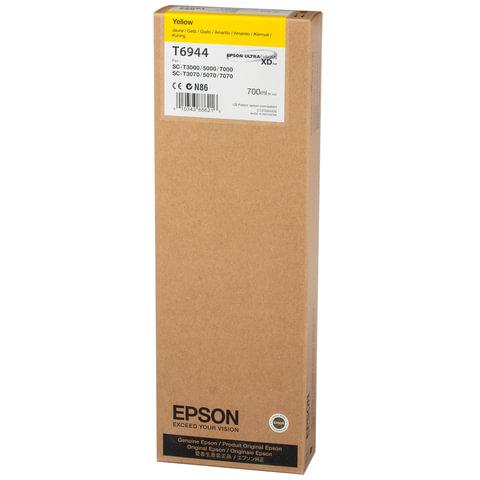 Картридж струйный для плоттера EPSON (C13T694400) Epson SC-T3000/5000/7000 и др., желтый, 700 мл, оригинальный