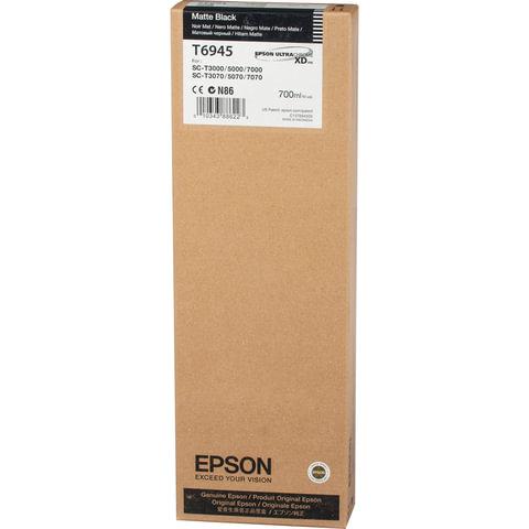 Картридж струйный для плоттера EPSON (C13T694500) Epson SC-T3000/5000 и др., черный, 700 мл, для матовой бумаги, оригинальный