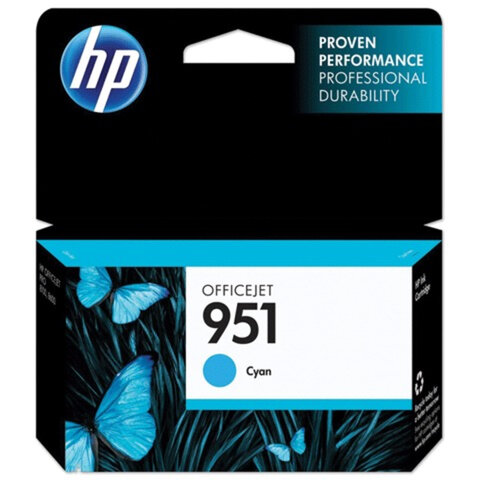 Картридж струйный HP (CN050AE) OfficeJet 8100/<wbr/>8600/<wbr/>8610, №951, голубой, оригинальный