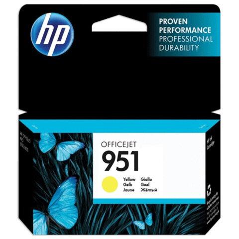 Картридж струйный HP (CN052AE) OfficeJet 8100/<wbr/>8600/<wbr/>8610, №951, желтый, оригинальный