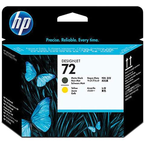 Головка печатающая для плоттера HP (C9384A) Designjet T610/<wbr/>795/<wbr/>1100 и др., №72, черная матовая и желтая, оригинальня