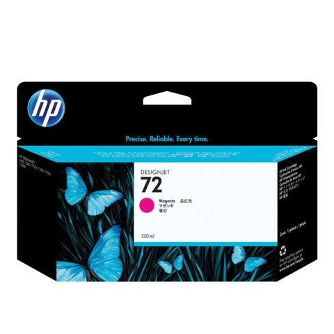 Картридж струйный для плоттера HP (C9372A) Designjet T610/<wbr/>795/<wbr/>1100 и др., №72, пурпурный, 130 мл, оригинальный