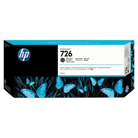 Картридж струйный для плоттера HP (CH575A) Designjet T795/1200 и др., №726, черный матовый, 300 мл, оригинальный