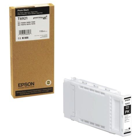 Картридж струйный для плоттера EPSON (C13T692100) Epson SC-T3200/<wbr/>5200 и др., черный, 110 мл, для глянцевой бумаги, оригинальный