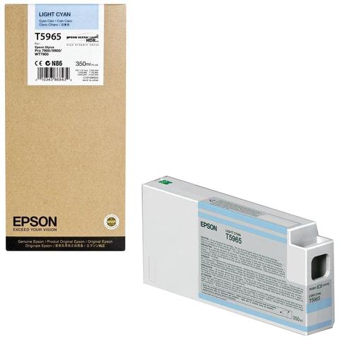 Картридж струйный для плоттера EPSON (C13T596500) Epson StylusPro 7890 и др., светло-голубой, 350 мл, оригинальный