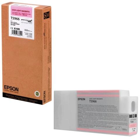 Картридж струйный для плоттера EPSON (C13T596600) Epson StylusPro 7890 и др., светло-пурпурный, 350 мл, оригинальный