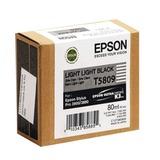 Картридж струйный для плоттера EPSON (C13T580900) Epson StylusPro 3880 и др., светло-серый, 80 мл, оригинальный